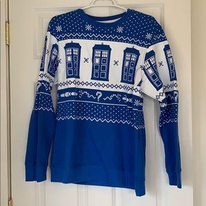 ModCloth Dr. Who Christmas sweatshirt size SM EUC